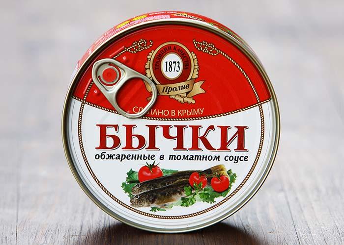 Бычки обжаренные в томатном соусе