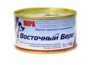 """Икра Горбуши """"Восточный берег"""" 140 грамм"""