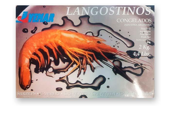 Лангустины L1 Аргентина 2 кг, дикий вылов.