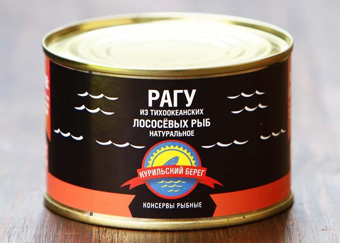 Рагу из тихоокеанских лососевых рыб натуральное ключ 250 гр