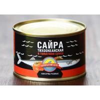 Сайра тихоокеанская в томатном соусе